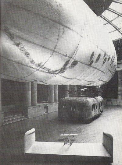 Panamarenko, 'Zeppelin', 1972. 1100 x 2800 x 600 cm, rotan, plastic.