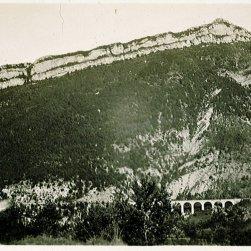 Onderschrift: 'In de Franse Alpen'
