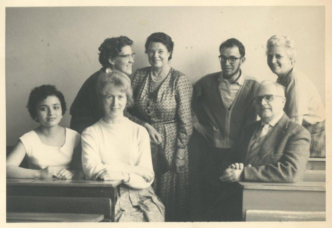 """""""April 1960 - met collega's"""""""