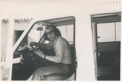 """Vakantie in de Dordogne, Frankrijk, 1-27 juli 1974. """"Rudi, de snelle rijder"""""""