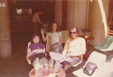 In Bergerac tijdens de vakantie in de Dordogne, juli 1974.