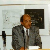 Bij een lezing over Jan Elburg. Letterkundig Museum, 10 september 1986.