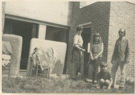 """Vakantie 3 juli - 22 juli 1969, Grimbergen, België. """"Laatste ochtend bij Henny"""""""