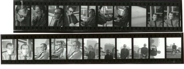 Filmstrook met foto's van Cor Stutvoet, 1968.
