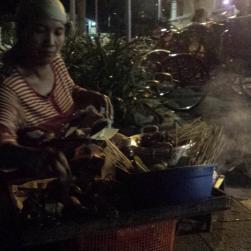 Saté op de Jalan Malioboro (Jogja)