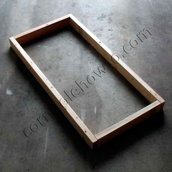 Finished Frame For Cornhole Table.
