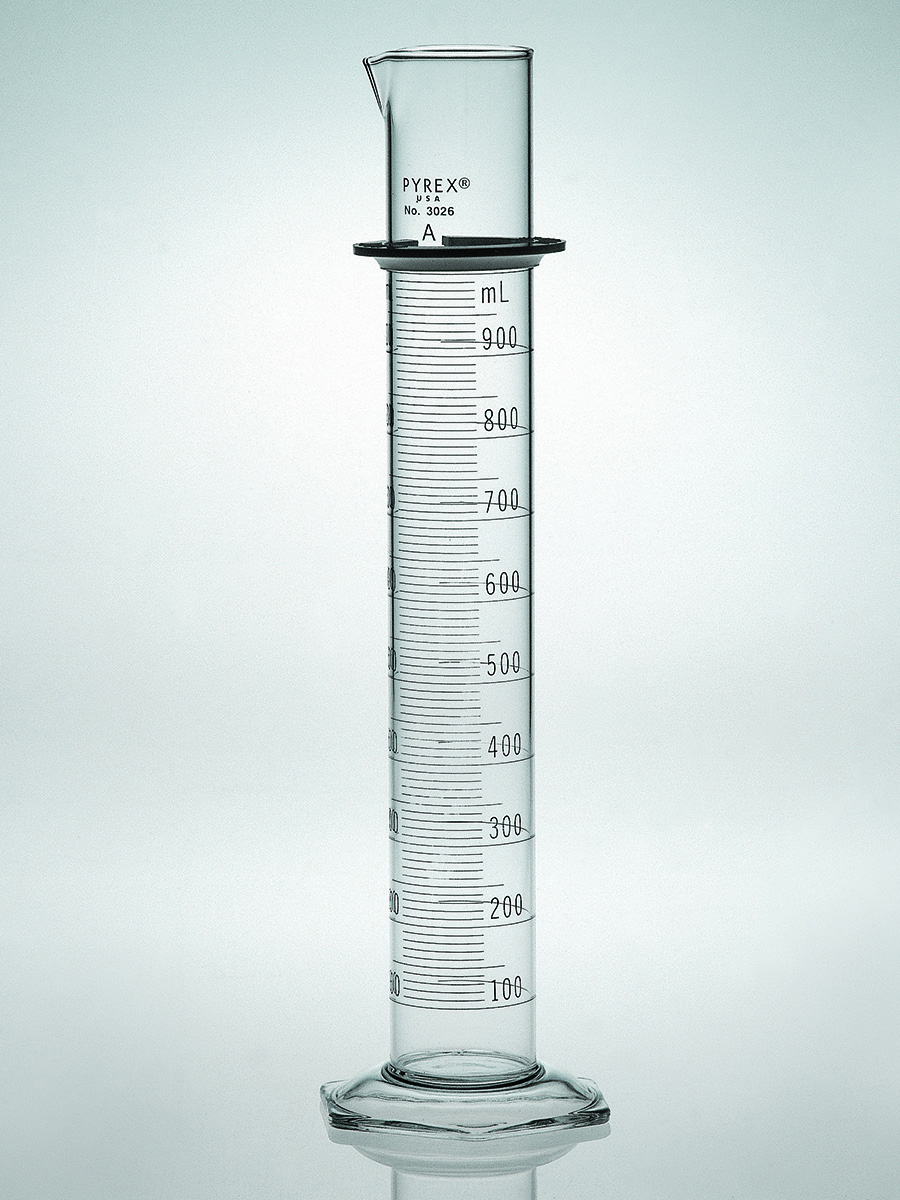 Pyrex Double Metric Scale 1l Class A Graduated Cylinder