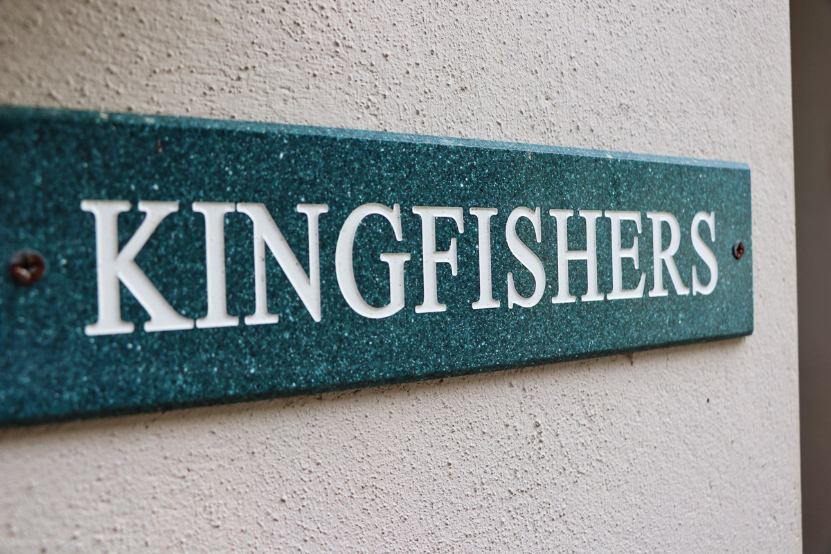 holiday cottage close to Padstow Cornwall Kingfishers sign