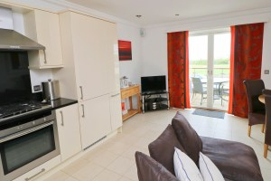 Pendarves Ocean Blue holiday apartment open plan living
