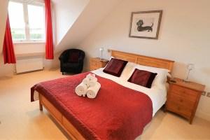 Trevose Ocean Blue Holiday apartment Cornwall master bedroom