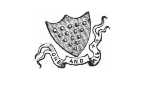One and all bezants shield illustration by J.T. Blight 1873
