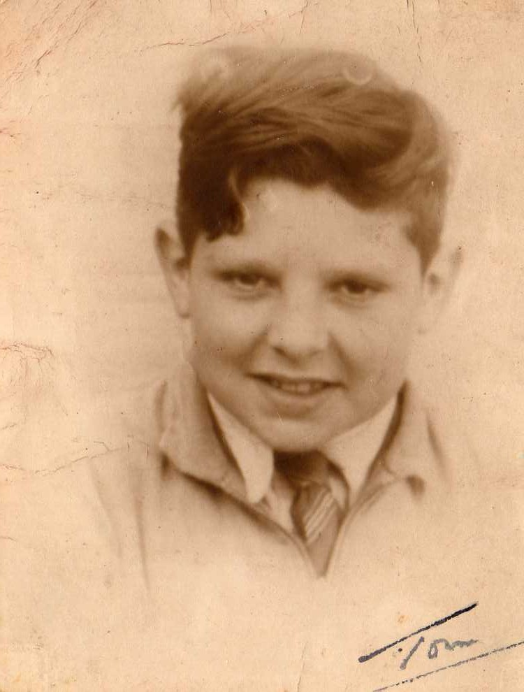 Figure No 2: Tom Bowden as a boy aged 11 in 1941