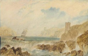 Joseph Mallord William Turner - The Entrance to Fowey Harbour