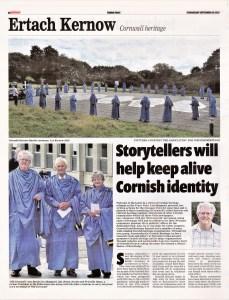 Ertach Kernow - Storytellers will help keep alive Cornish identity
