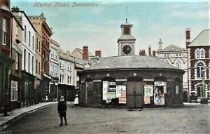 Market House Launceston postcard c1908