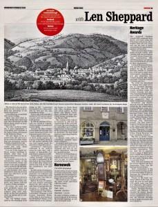 Ertach Kernow - Lostwithiel, Rich layer of town's history