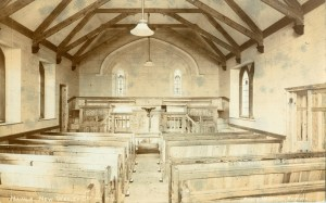 The interior of the 1908 chapel (Photo: courtesy Clive Benney)