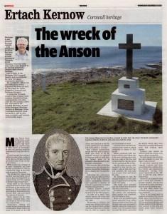 Ertach Kernow - Wreck of the Anson