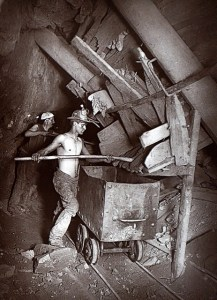 A mill at the 412 Dolcoath Mine