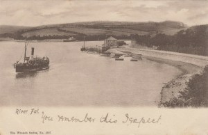River Fal postcard By Wrench, 1904