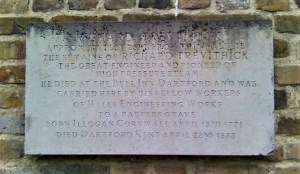 The plaque at St Edmund's Burial Ground, East Hill, Dartford