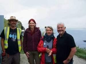 James Gossip, Alice Roberts, Jacky Nowakowski & Win Scutt (Bude & Stratton Post)