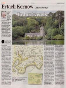 Ertach Kernow- Tudor Travels, John Leland around the Roseland Peninsula c1542