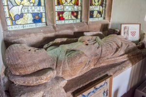 Blanchminster knight's effigy at St Andrews Church, Stratton