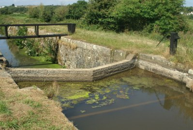 a former lock near Rodd's bridge on the Bude Canal