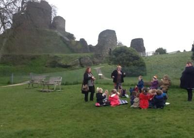 Nanstallon School visit Launceston Castle