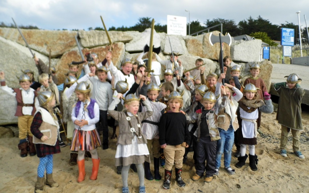 St Issey Vikings invade Padstow!