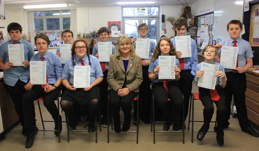 Students receive Cornwall Heritage Trust Award for language projects