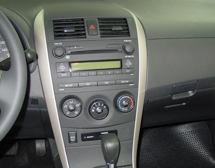 2009 Toyota Corolla Radio Upgrade
