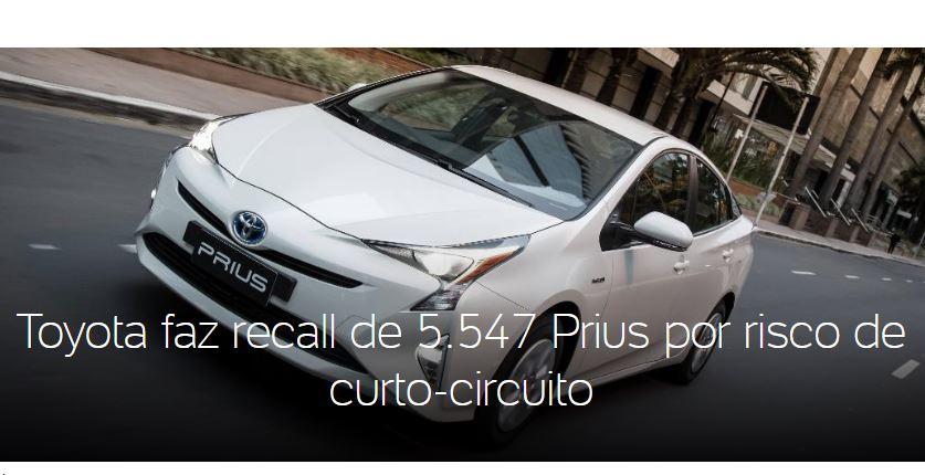 Recall Toyota Prius