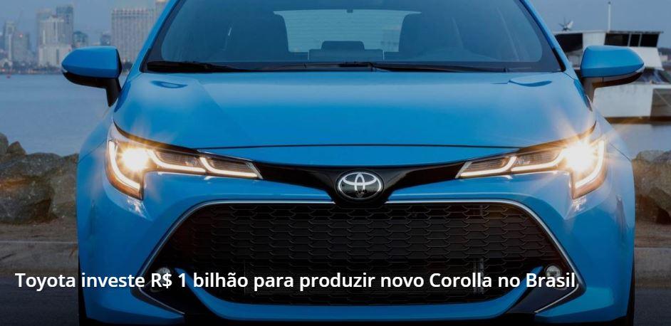 Toyota Corolla no Brasil
