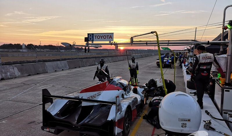 Toyota LMP1 somou 4 mil km de testes no Circuito de Sebring