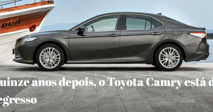 Toyota Camry está de Volta ao Mercado após 15 anos