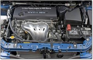 2009 Toyota Corolla  with an optional Camry engine