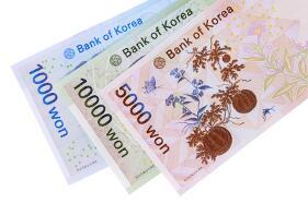 Korean won banknotes