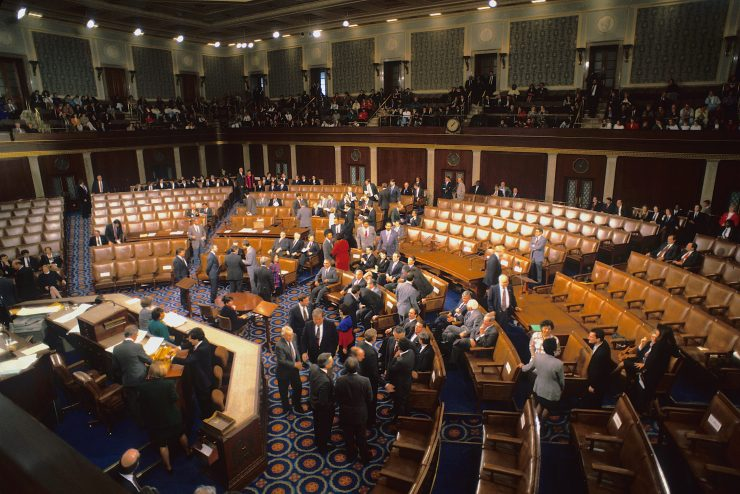 The floor of the U.S. House of Representatives in 1993.