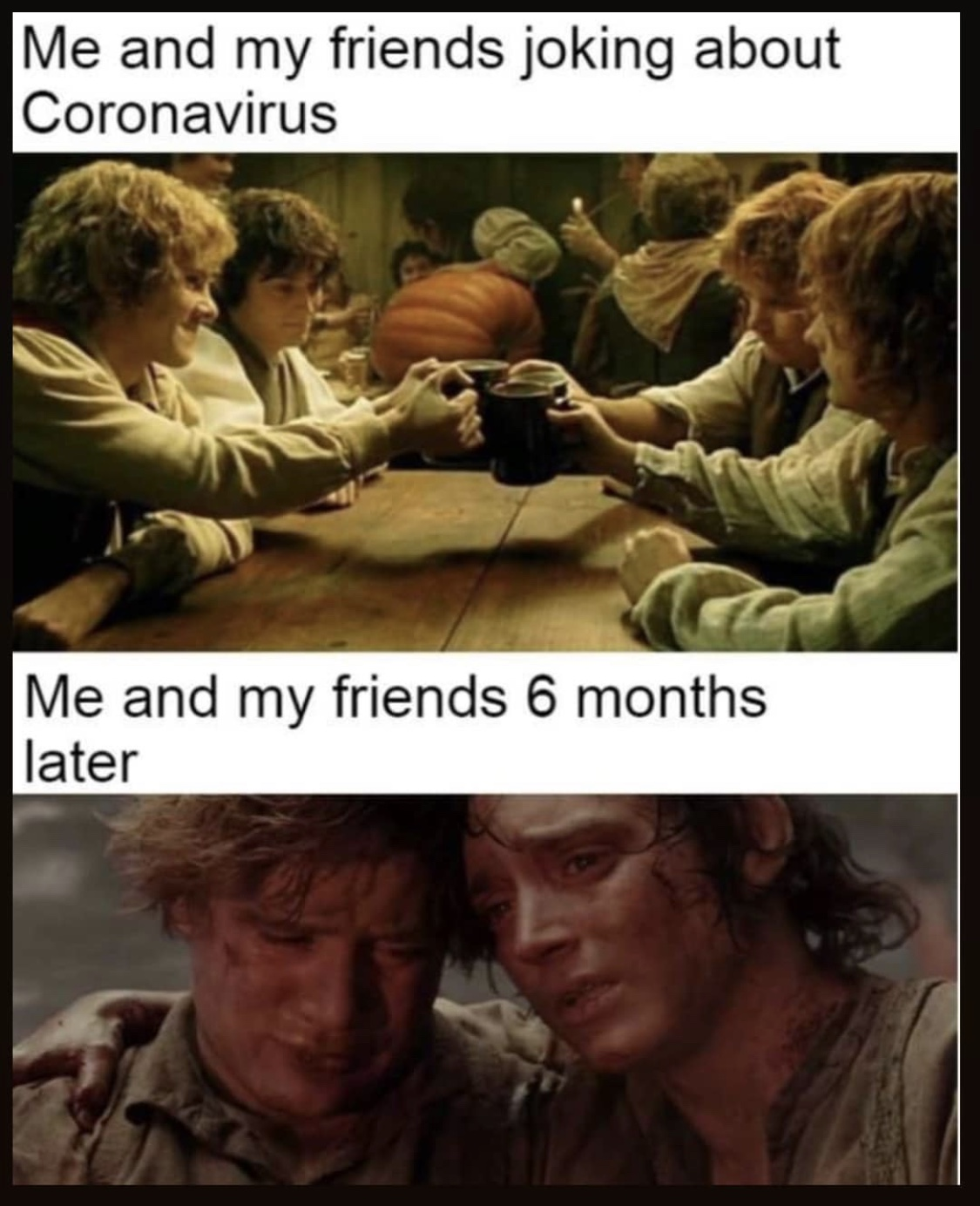 Me and my friends joking about coronavirus – me and my friends 6 months later