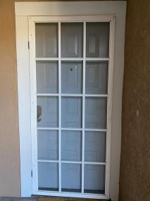 White Cap Code swinging screen door.