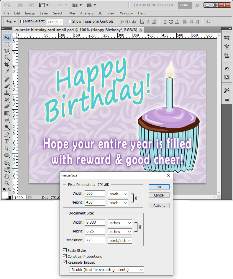 birthday invitation card size in pixels