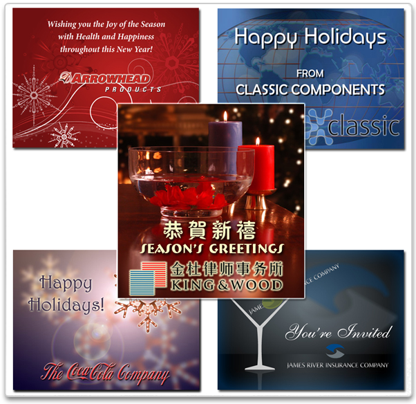 corporate holiday ecards creating