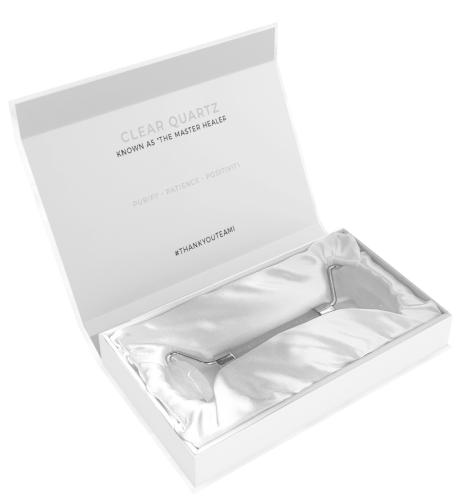 Teami Clear Quartz Facial Roller Open Box
