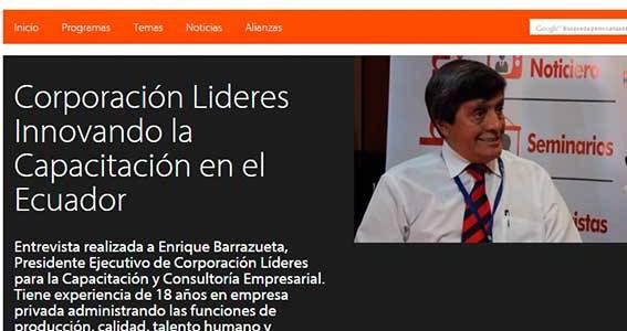 Reportaje: Corporación Líderes Innovando la Capacitación en el Ecuador