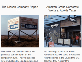 Corporate Welfare Watch produces a monthly newsletter.