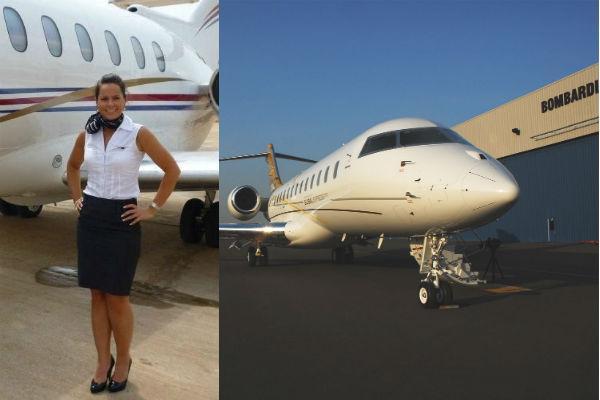 Corporate flight attendant, Sophie Fry