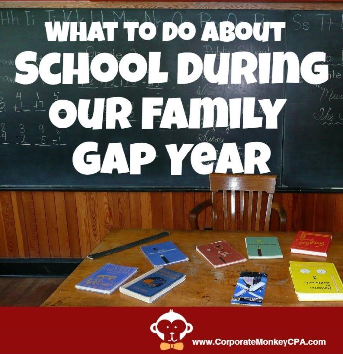 HomeSchool During Family Gap Year
