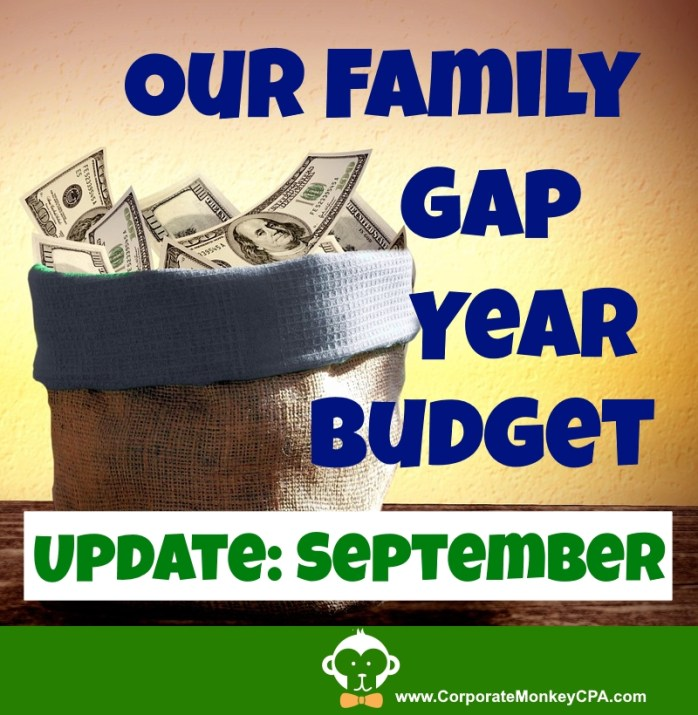 Gap Year Budget Update - 4 Months - September